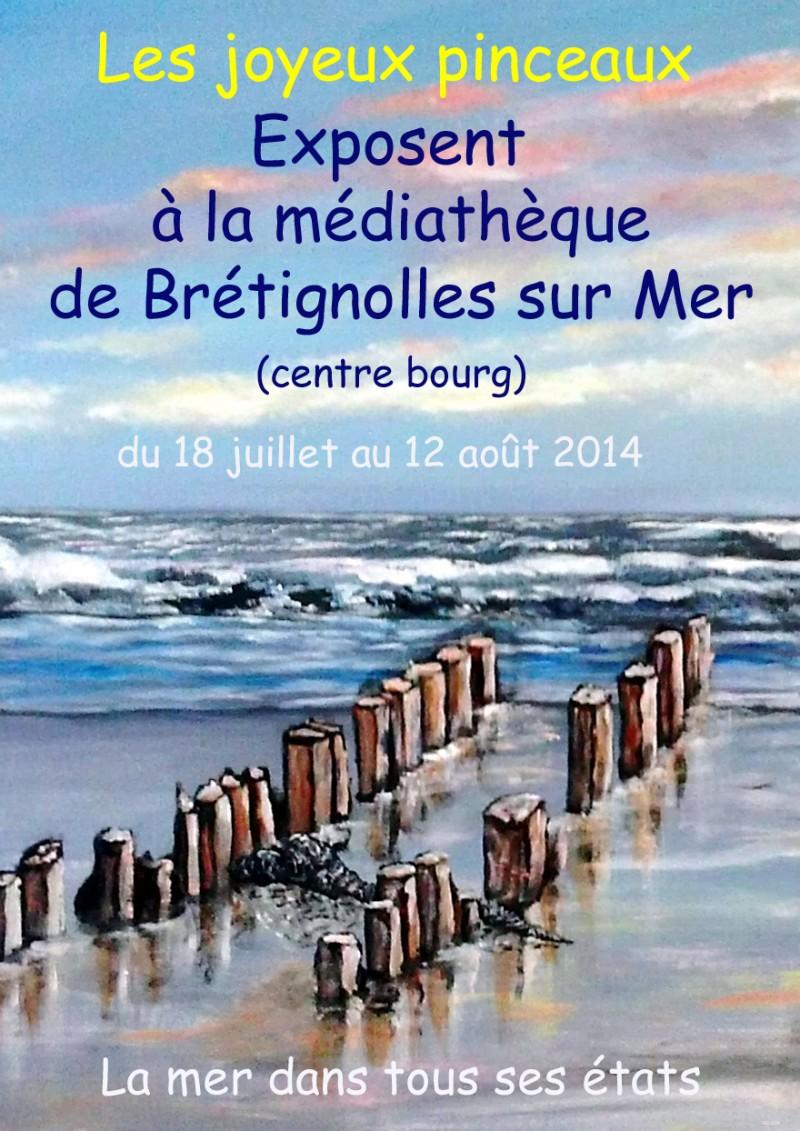 affiche expo Joyeux Pinceaux été 2014